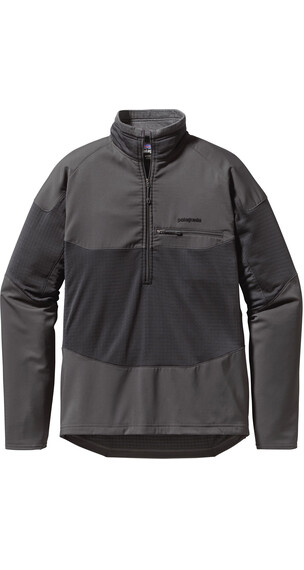 Patagonia M's R1 Field 1/4 Zip L/S Forge Grey